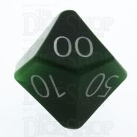 TDSO Cats Eye Dark Green with Engraved Numbers 16mm Precious Gem Percentile Dice