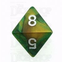 Chessex Gemini Gold & Green D8 Dice