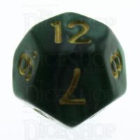 TDSO Pearl Green & Gold D12 Dice