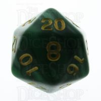 TDSO Pearl Green & Gold D20 Dice
