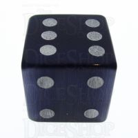 TDSO Cats Eye Kynite with Engraved Spots 16mm Precious Gem D6 Dice