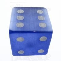 TDSO Cats Eye Light Blue with Engraved Spots 16mm Precious Gem D6 Dice