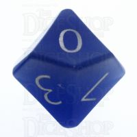 TDSO Cats Eye Light Blue with Engraved Numbers 16mm Precious Gem D10 Dice