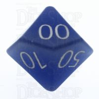 TDSO Cats Eye Light Blue with Engraved Numbers 16mm Precious Gem Percentile Dice