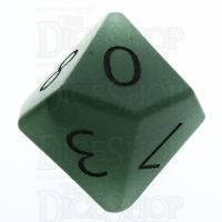 TDSO Aventurine Green with Engraved Numbers 16mm Precious Gem D10 Dice