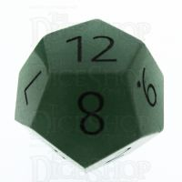 TDSO Aventurine Green with Engraved Numbers 16mm Precious Gem D12 Dice