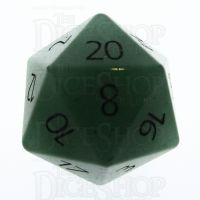 TDSO Aventurine Green with Engraved Numbers 16mm Precious Gem D20 Dice