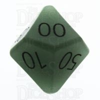 TDSO Aventurine Green with Engraved Numbers 16mm Precious Gem Percentile Dice