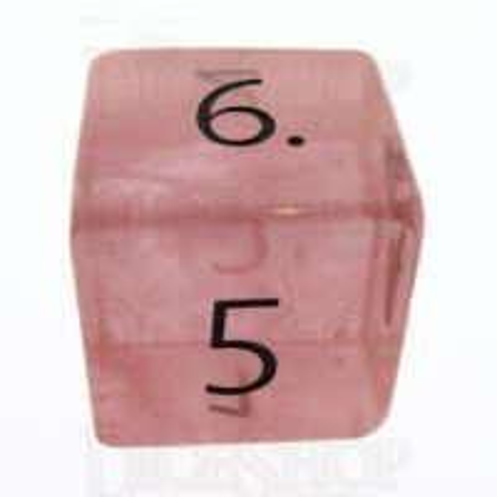 TDSO Quartz Strawberry with Engraved Numbers 16mm Precious Gem D6 Dice