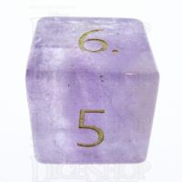 TDSO Amethyst with Engraved Numbers 16mm Precious Gem D6 Dice
