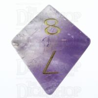 TDSO Amethyst with Engraved Numbers 16mm Precious Gem D8 Dice