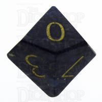 TDSO Lapis Lazuli with Engraved Numbers 16mm Precious Gem D10 Dice