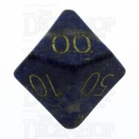 TDSO Lapis Lazuli with Engraved Numbers 16mm Precious Gem Percentile Dice