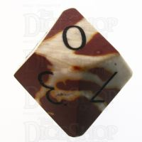 TDSO Mookaite with Engraved Numbers 16mm Precious Gem D10 Dice