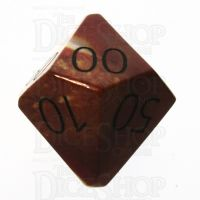 TDSO Mookaite with Engraved Numbers 16mm Precious Gem Percentile Dice