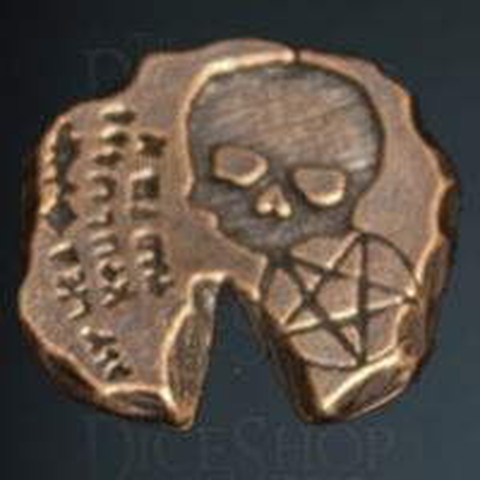 Necromancer Legendary Metal Copper Coin