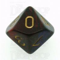 Chessex Gemini Purple & Red D10 Dice