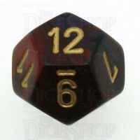 Chessex Gemini Purple & Red D12 Dice