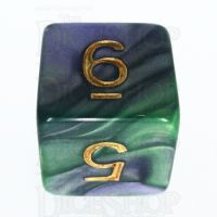TDSO Duel Blue & Green D6 Dice