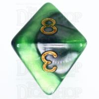 TDSO Duel Blue & Green D8 Dice