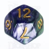 TDSO Duel Blue & Green D12 Dice