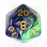 TDSO Duel Blue & Green D20 Dice