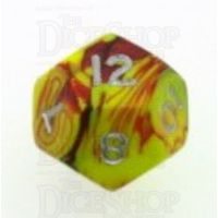 D&G Toxic Ooze Yellow & Red D12 Dice