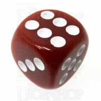TDSO Opaque Brown 16mm D6 Spot Dice