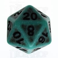 TDSO Opaque Antique Green D20 Dice