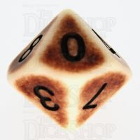 TDSO Opaque Antique Ivory D10 Dice