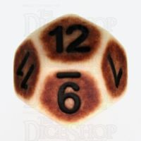 TDSO Opaque Antique Ivory D12 Dice