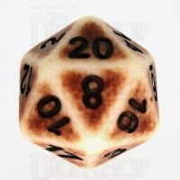 TDSO Opaque Antique Ivory D20 Dice