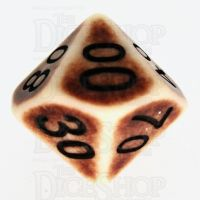 TDSO Opaque Antique Ivory Percentile Dice