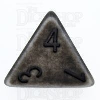 TDSO Opaque Antique Silver D4 Dice