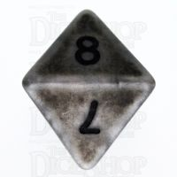 TDSO Opaque Antique Silver D8 Dice