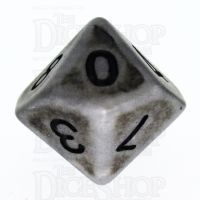TDSO Opaque Antique Silver D10 Dice