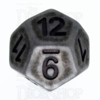 TDSO Opaque Antique Silver D12 Dice
