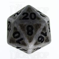 TDSO Opaque Antique Silver D20 Dice