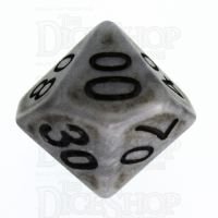 TDSO Opaque Antique Silver Percentile Dice