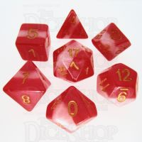 TDSO Layer Red Snow 7 Dice Polyset