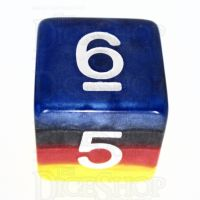 TDSO Layer Burning Sand D6 Dice