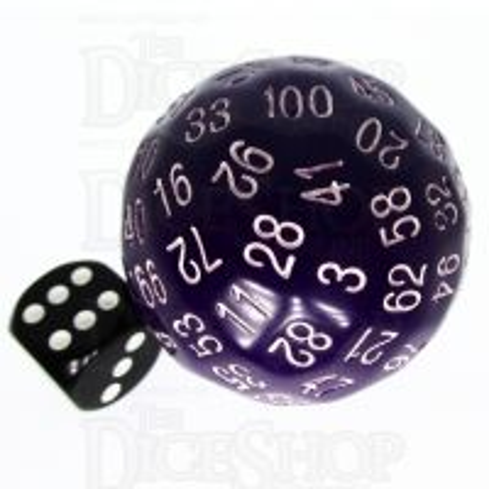 TDSO Opaque Purple D100 Dice