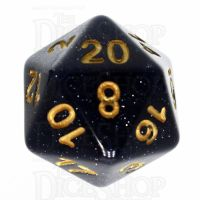 TDSO Galaxy Glitter Universe D20 Dice