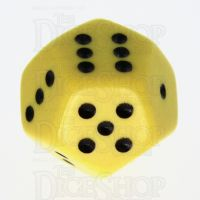 Koplow Opaque Yellow & Black 12 Sided D6 Spot Dice