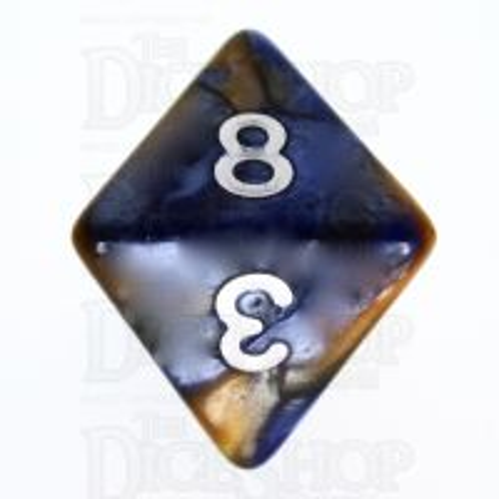 TDSO Duel Blue & Gold D8 Dice