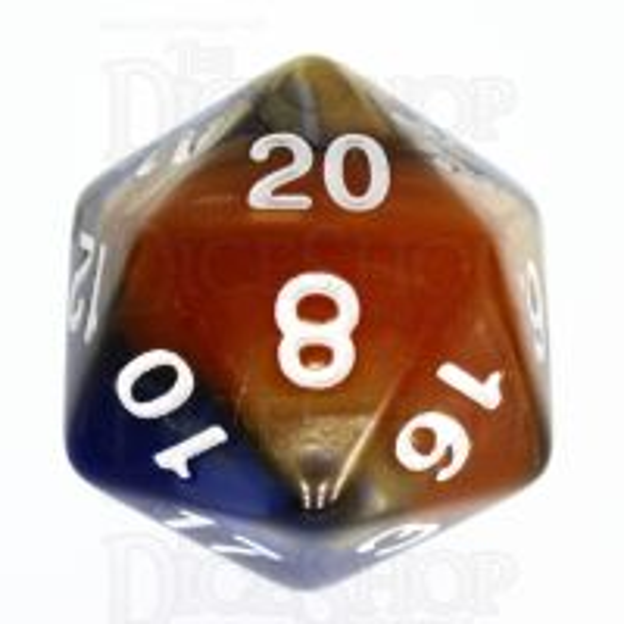 TDSO Duel Blue & Gold D20 Dice