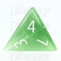 TDSO Cats Eye Light Green with Engraved Numbers 16mm Precious Gem D4 Dice