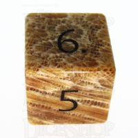 TDSO Fossilised Coral with Engraved Numbers 16mm Precious Gem D6 Dice