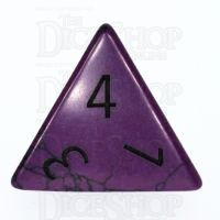 TDSO Turquoise Purple Synthetic with Engraved Numbers 16mm Precious Gem D4 Dice
