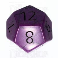 TDSO Turquoise Purple Synthetic with Engraved Numbers 16mm Precious Gem D12 Dice